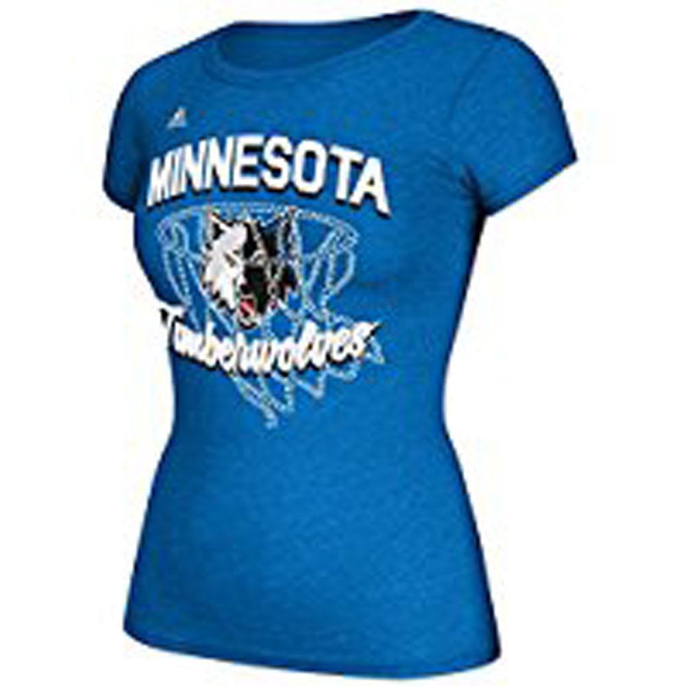 Minnesota Timberwolves - Bling Net Juniors Cap Sleeve T Shirt