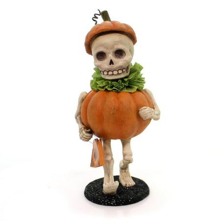Halloween SKULLY'S PUMPKIN COSTUME Mummer's Parade Trick Or Treat Td5040