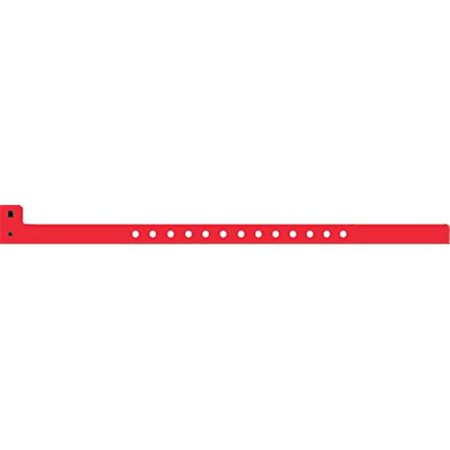 Mayflower 54064 0.5 in. Plastic Wristband - Red](Plastic Wristbands)