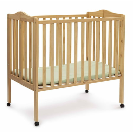 Delta Children Folding Portable Crib with Mattress - New Carters Baby Crib