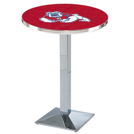 Fresno State University Round Pub Table (28 in. Dia. x 36 in. H (62 lbs.)) (Round Table Pizza Fresno)