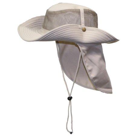 Tropic Hats Summer Cotton Wide Brim Mesh Safari W Neck Flap   Snap Up Sides  - Khaki XXL - Walmart.com 7c41ddd3f33f
