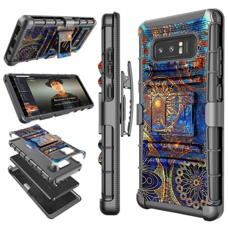 Galaxy Note 8 / Note 9 Case, Samsung Note 9 Holster Clip, Tekcoo Shock Absorbing Swivel Locking Belt [Relic Camo] Defender Heavy Full Body Kickstand Carrying Tank Armor Cases (Custom Heavy Relic)
