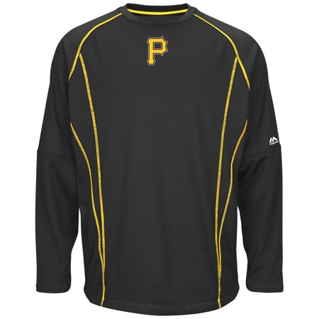 Pittsburgh Pirates Majestic MLB Authentic On-Field Crew Pullover Sweatshirt by