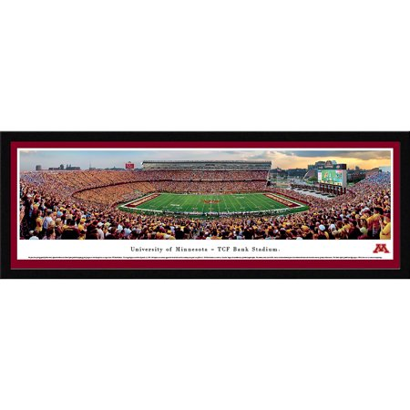 Minnesota Gopher Football - Inaugural Game at TCF Bank Stadium - Blakeway Panoramas NCAA College Print with Select Frame and Single Mat ()