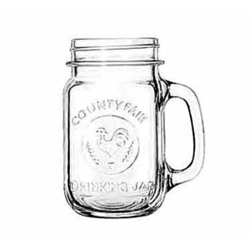 Libbey Glassware 97085 County Fair 16 1 2 oz Drinking Jar by Libbey Glass