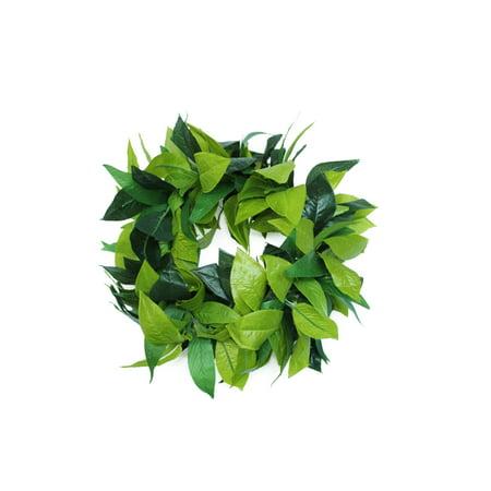 Hawaii Luau Party Maile King Artificial Fabric All Green Leaves Haku Head Band