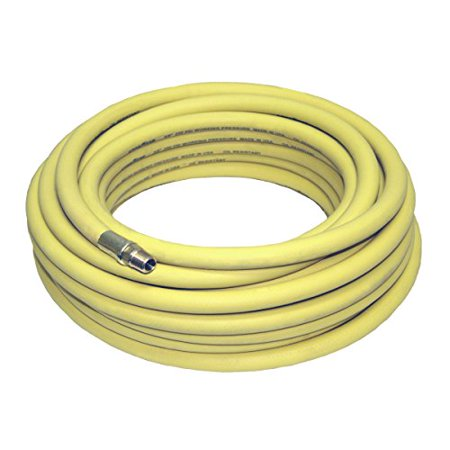 Bend & Abrasion Resistant 250psi Rubber Air Hose Yellow 50'x3/8