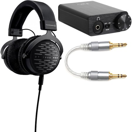 Beyerdynamic DT 1990 PRO 250 Ohm Open Studio Headphones + FiiO E10K Headphone Amplifier & FiiO L16 3.5mm to 3.5mm Straight Stereo Audio Cable Bundle