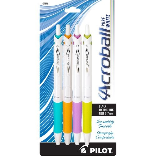 Pilot Acroball Ink Pens, 4-Count , Black