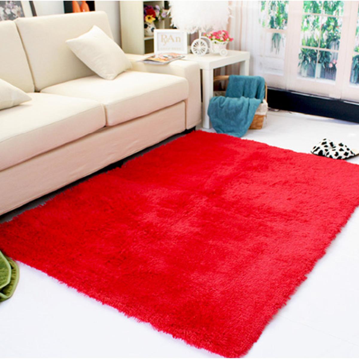 13 Colors 4 Sizes Modern Soft Fluffy Floor Rug Anti Skid