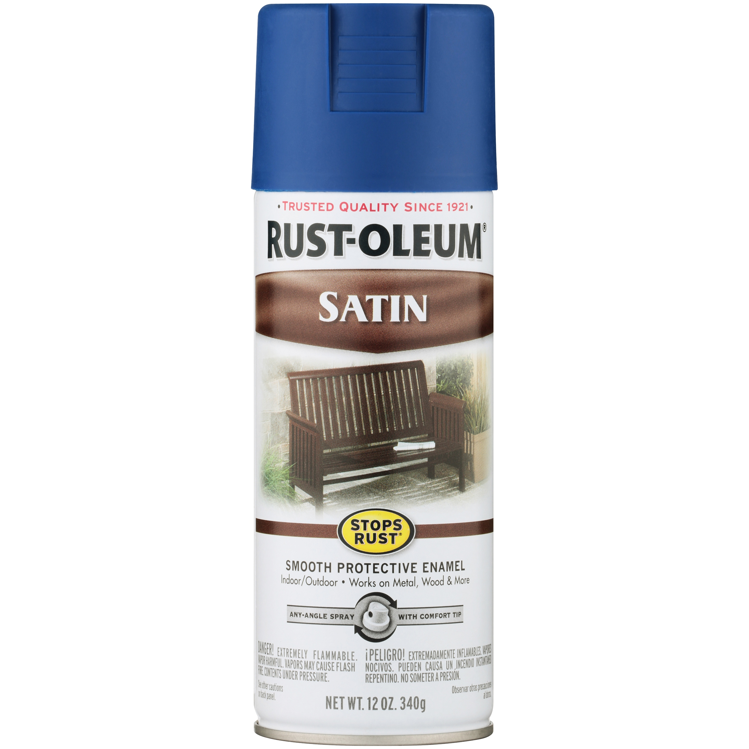 Rust-Oleum Stops Rust Satin Sapphire Spray Paint, 12 oz