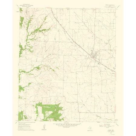 Topographical Map Print - Godley Texas Quad - USGS 1963 - 23 x 28.16