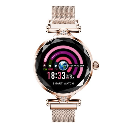Fashion Women 3D Diamond Glass Dazzling Smart Bracelet Smart watch With Blood Pressure/ Heart Rate/ Sleep Monitor/ Predict Menstrual Circle/ Pedometer APP Connect for Android (Best Diablo 3 App Android)