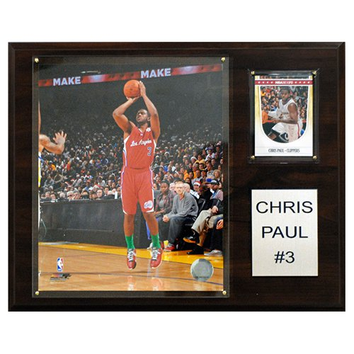 C and I Collectables NBA 15W x 12H in. Chris Paul Los Angeles Clippers Player Plaque
