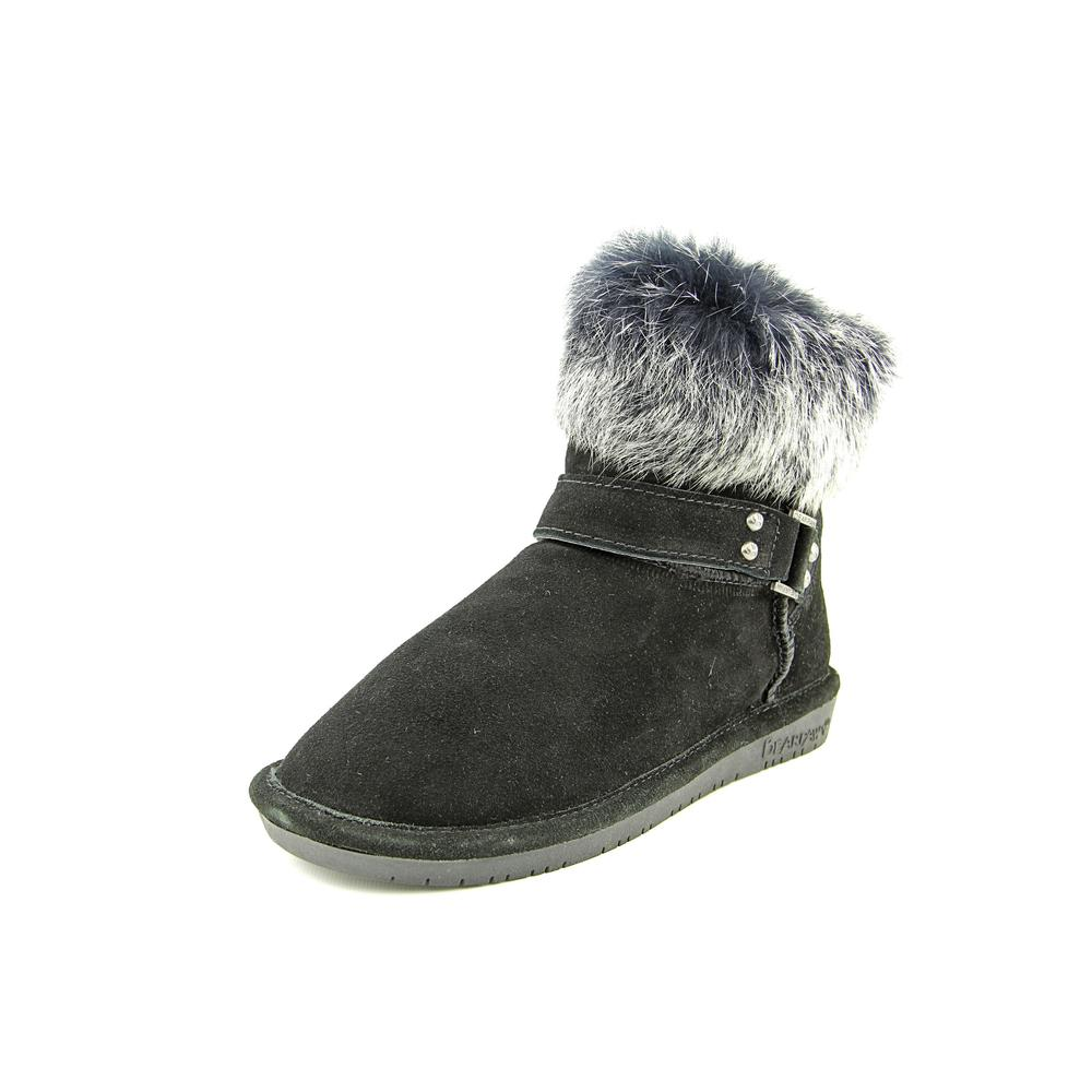 Bearpaw Tigris Women  Round Toe Suede Black Ankle Boot