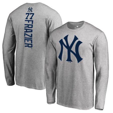 hot sale online 25aa5 56e4b Clint Frazier New York Yankees Fanatics Branded Backer Long Sleeve T-Shirt  - Heather Gray