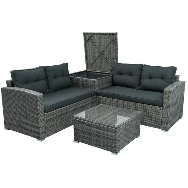Bistro Outdoor Wicker Patio Sets For, Grey Wicker Outdoor Furniture Sets