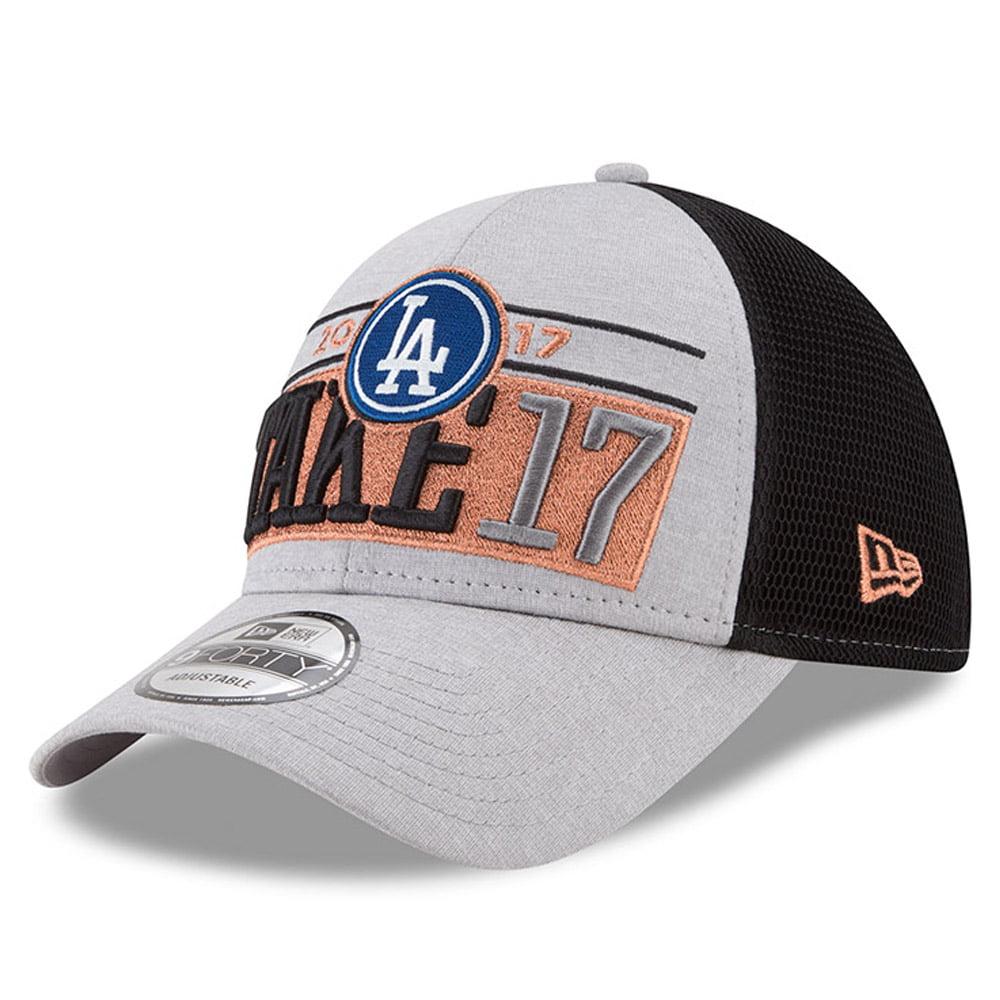 Los Angeles Dodgers New Era 2017 Division Series Winner Locker Room 9FORTY Adjustable Hat - Gray - OSFA