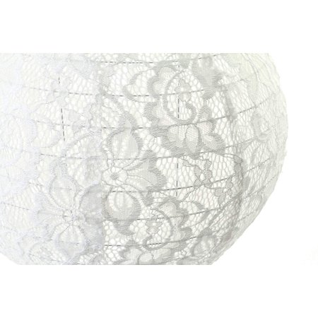 Andaz Press Hanging Lace Lanterns Decorations, Real Lace Fabric, 8-inch and 10-inch, 2-Pack
