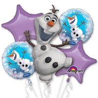 Frozen Olaf Character Authentic Licensed Theme Foil Balloon Bouquet
