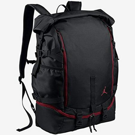 15886643fa18 Nike -  658401-010  AIR JORDAN JUMPMAN TOP LOADER BAGS ACCESSORIES  ACCESSORIES AIR JORDANBLACK RED - Walmart.com