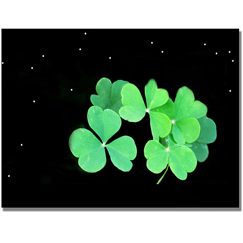 "Trademark Art ""Clover"" Canvas Wall Art by Kathie McCurdy"