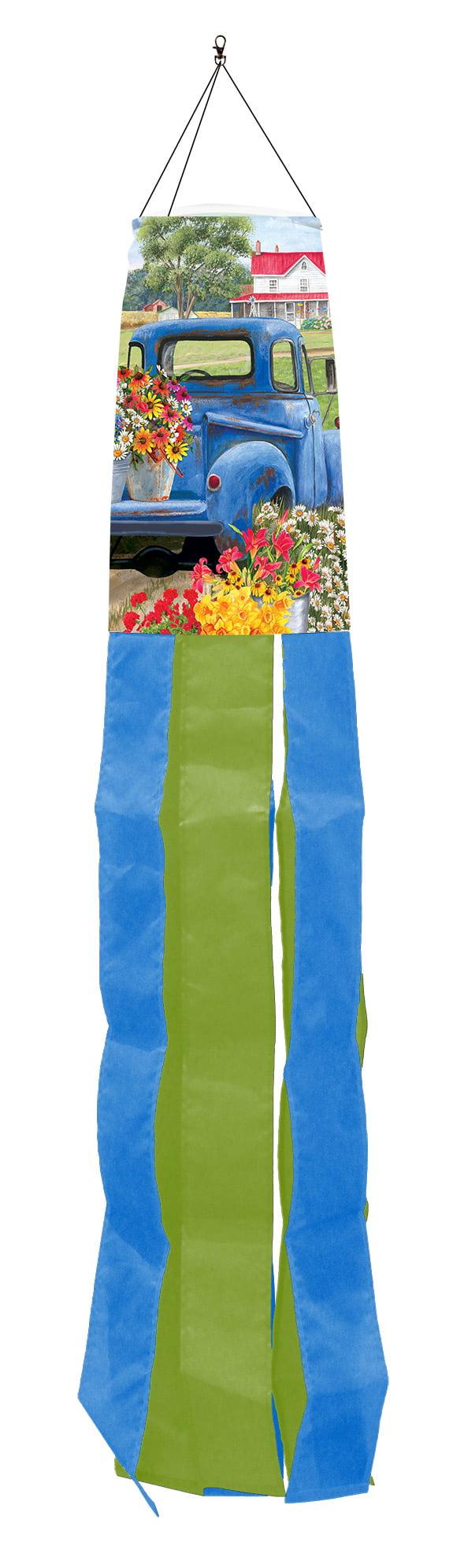 """Spring Farm Floral Windsock Flower Cart 50/""""L Briarwood Lane"""