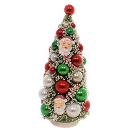 Christmas RETRO KITCHMAS TREE Plastic Vintage Santa Sn5872