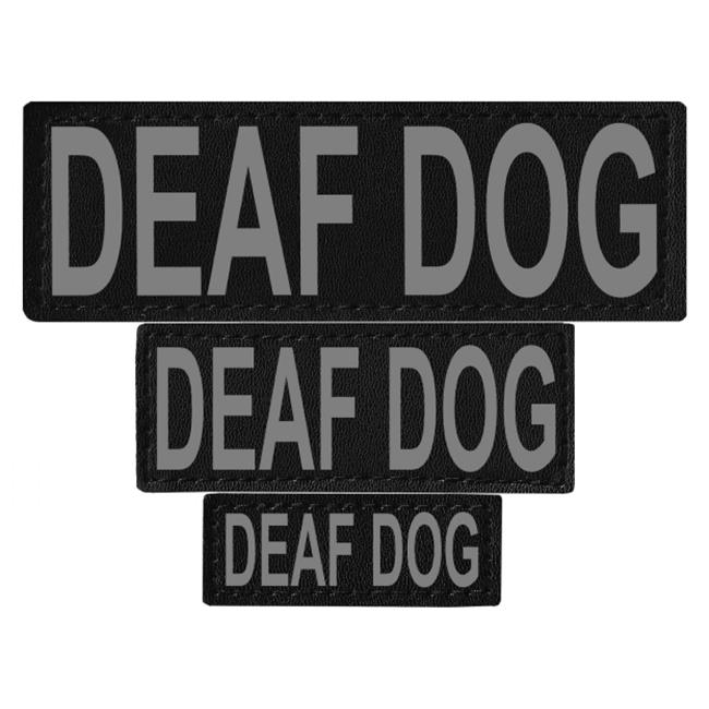 Dogline N0237-S-M Deaf Dog Removable Side Patches For Unimax & Alpha Harnesses - Small & Medium