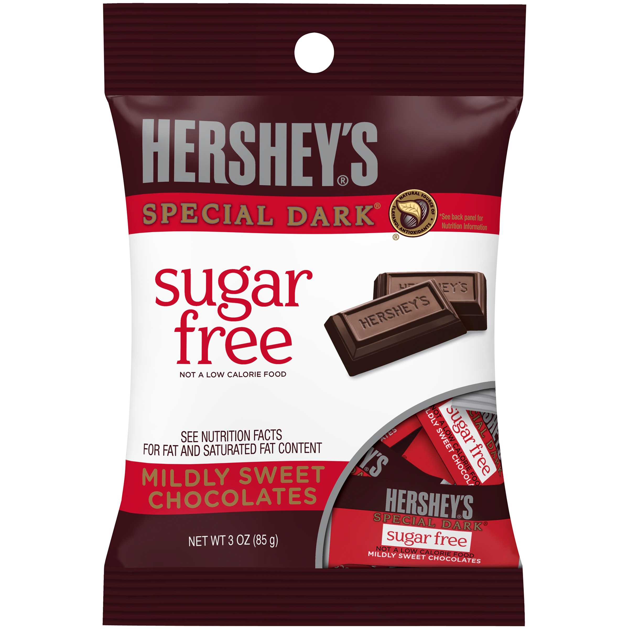 Hershey's Special Dark, Sugar Free Chocolate Candy, 3 Oz
