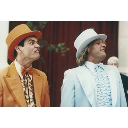 Jim Carrey and Jeff Daniels in Dumb and Dumber To in wedding suits 24x36 Poster - Suits From Dumb And Dumber