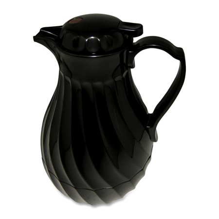 - Hormel, HOR402264B, Black Swirl Insulated Plastic Carafe, 1 Each, Black