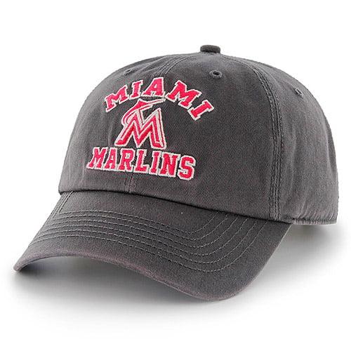 Miami Marlins '47 Women's Bristol Clean Up Adjustable Hat - Charcoal - OSFA