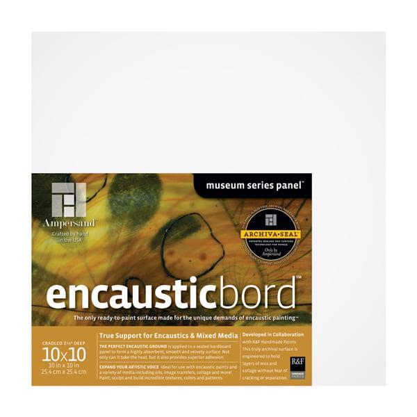 "Ampersand Encausticbord 2-1/8"" Cradled Panel 10x10"""