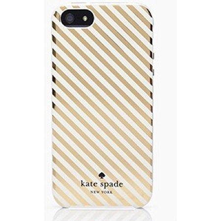 Kate Spade New York 'Clear Gold Market Street Stripe' Snap On Case for iPhone 6 Plus & 6s - Kate Spade Stripes