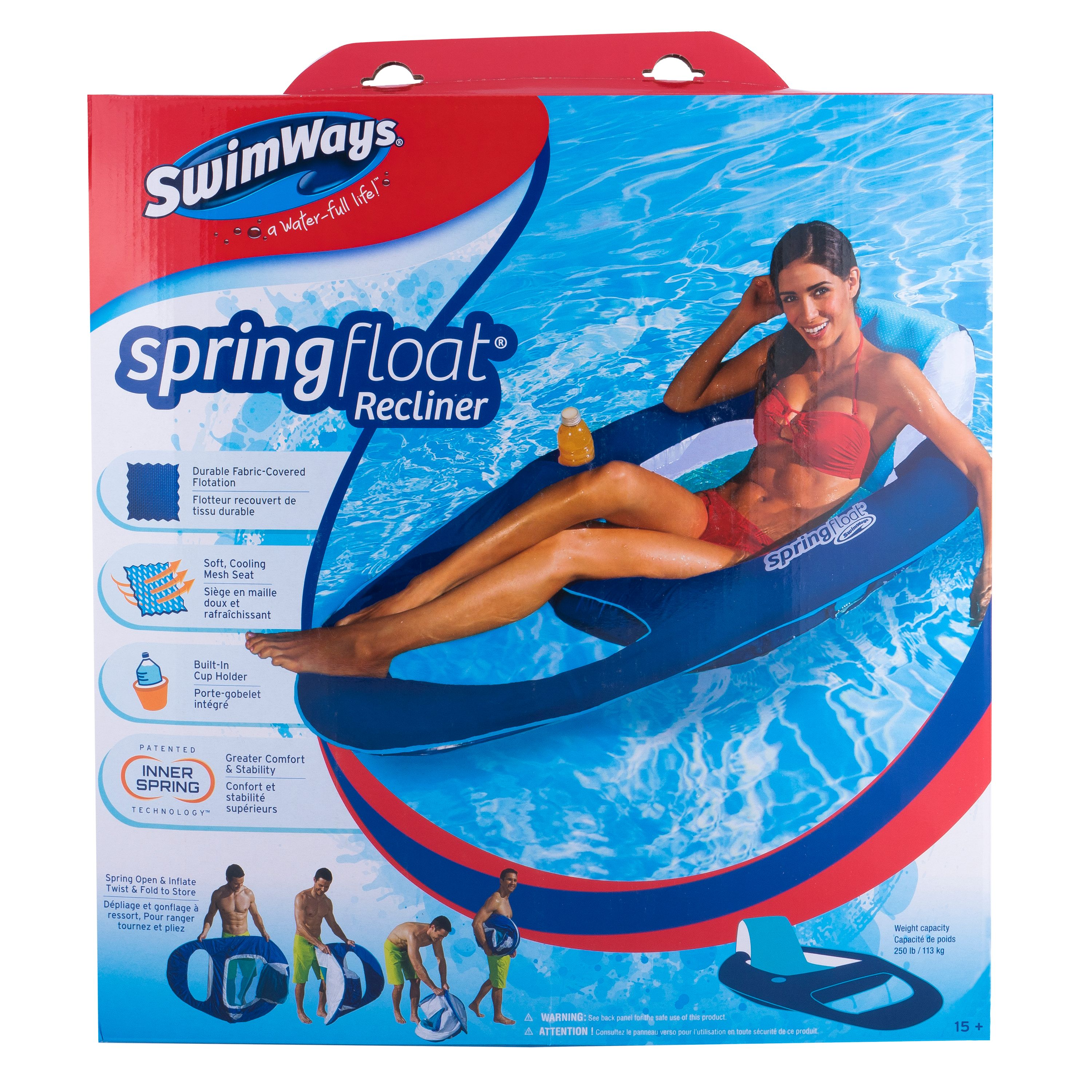 Oceans7 Tropics Lounger Swimming Float Devices Pool Beach Inflatable Raft 2 PACK