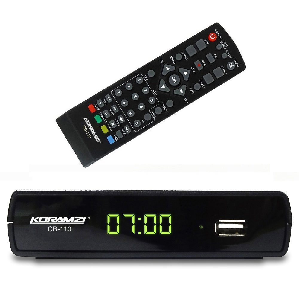 Koramzi CB-110 Digital TV Converter Box Supports Full HD/USB With Remote Control  sc 1 st  Walmart & Cable Converter Box Aboutintivar.Com