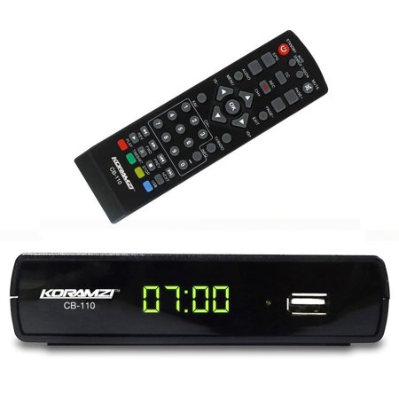 Koramzi Cb 110 Digital Tv Converter Box Supports Full Hd Usb With Remote Control And Recording Functionality  Rca Outputs Hd Out    Black    New