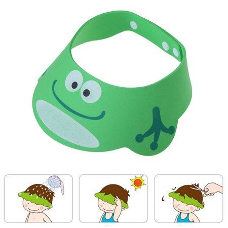 505371cb6fe Green Adjustable Baby Kids Shampoo Cap Bath Shower Cap Wash Hair Shield Sun  Hat