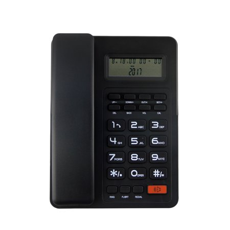 High Quality Business Fixed Phone Caller ID Telephone Home Office Landline Phone With LCD Screen (Black)