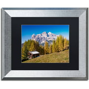 "Trademark Fine Art ""Alpine Chalet"" Canvas Art by Michael Blanchette Photography Black Matte, Silver Frame"