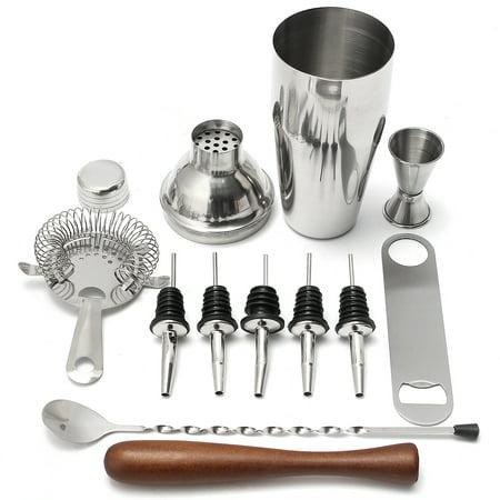 11 Piece Stainless Steel Cocktail Shaker Set Bartender Kit Bar Tools Barware ()