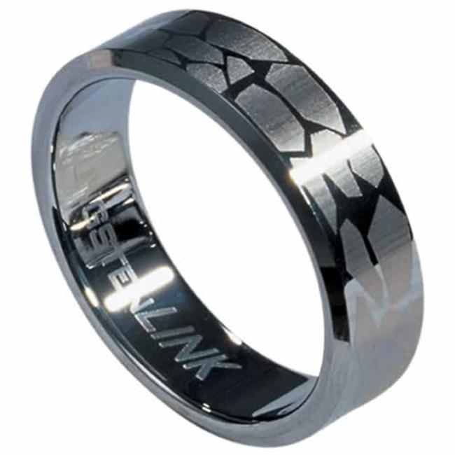 AAB Style RTS-17 Tungsten Carbide Ring with Laser-Made Design