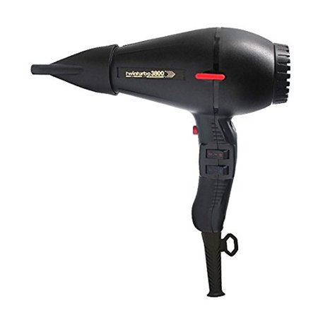 Twin Turbo 3800 Ionic & Ceramic 2100 Watt Hair Dryer, Features a Nickel Chrome Heating Element and Safety Thermostat, with 4 Temperature and 2 Speed Settings, Energy Saving with Up To 60%Faster Drying
