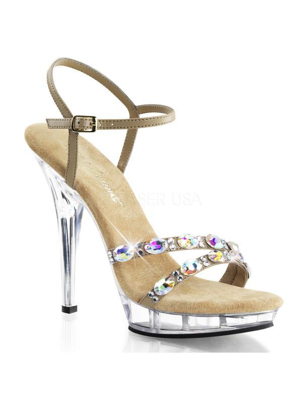 """LIP133/TPPU/C Taupe Pu/Clr Fabulicious Shoes 12 5"""" Lip Size: 12 Shoes 64d71d"""