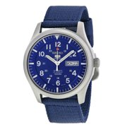 Seiko Men's 5 Automatic SNZG11K Navy Nylon Self Wind Fashion Watch