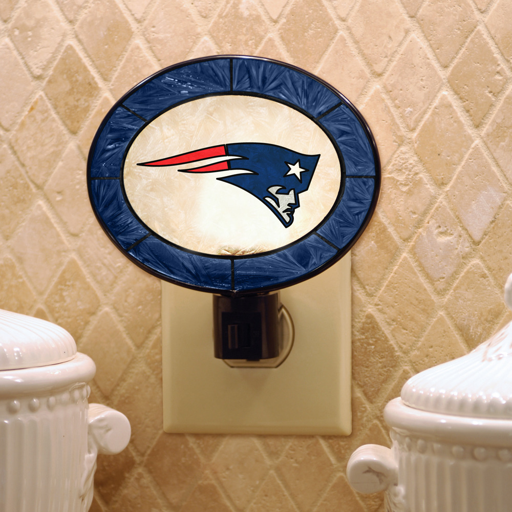 New England Patriots Art-Glass Nightlight