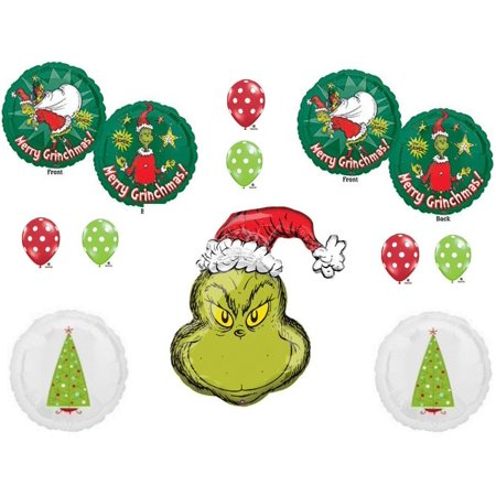 how the grinch stole christmas party balloons decorations supplies dr seuss how the grinch - How The Grinch Stole Christmas Decorations