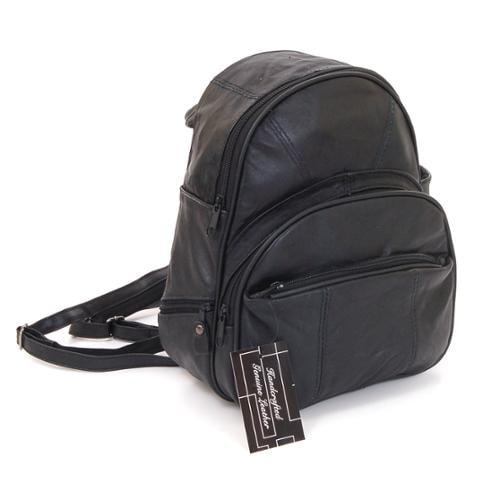 New Leather Backpack Purse Sling Bag Back Pack Shoulder Handbag Organizer Pocket Black One Size